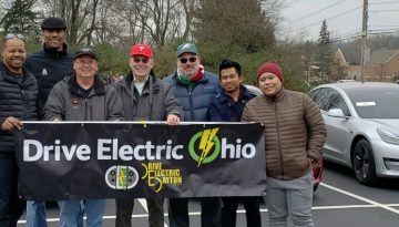 Drive Electric Dayton members attend the Springboro Ohio Christmas Parade.